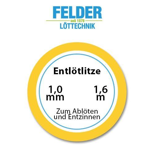 Entlötlitze FELDER, 1,0mm, Kupferlitze, 1,60m Spule