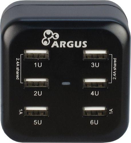 Argus USB-Ladegerät 100-240V, 6 x USB