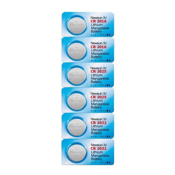 Knopfzellen-Set 6 St. Lithium