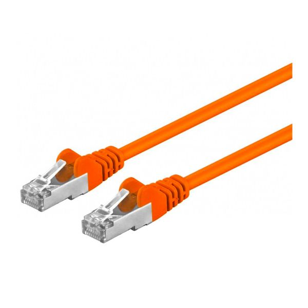 Patchkabel Cat5e, geschirmt, 3m, orange
