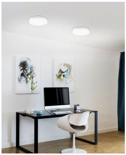 led deckenleuchte mit bewegungsmelder 28cm 24 watt. Black Bedroom Furniture Sets. Home Design Ideas