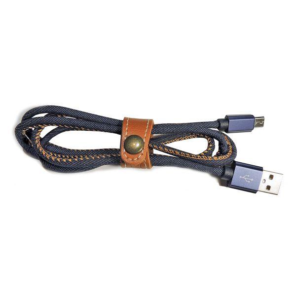 Premium USB-C Ladekabel, Jeans-Look