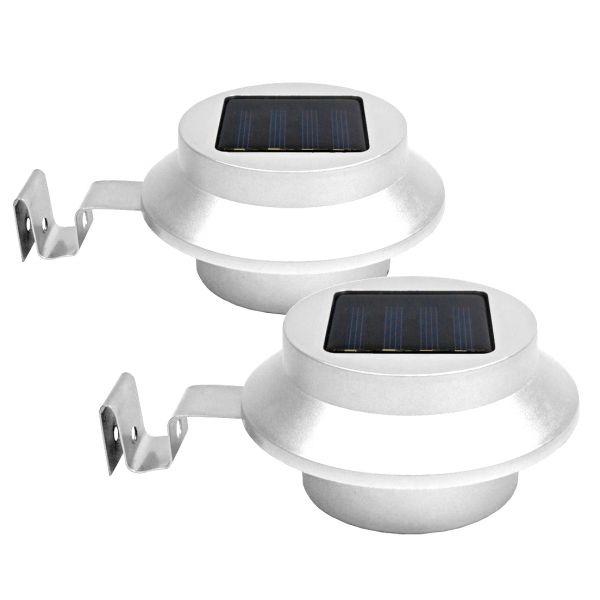 Solar Dachrinnenleuchte weiß im 2er-Set