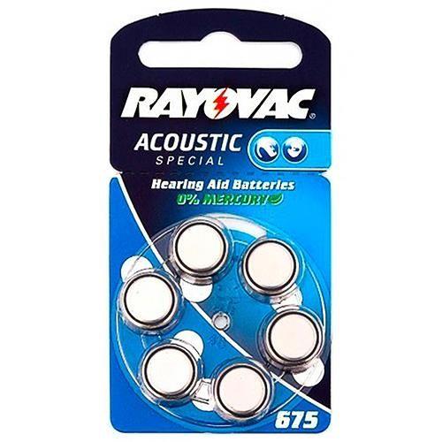 Hörgerätebatterie Rayovac / Varta 6 Stück V 675