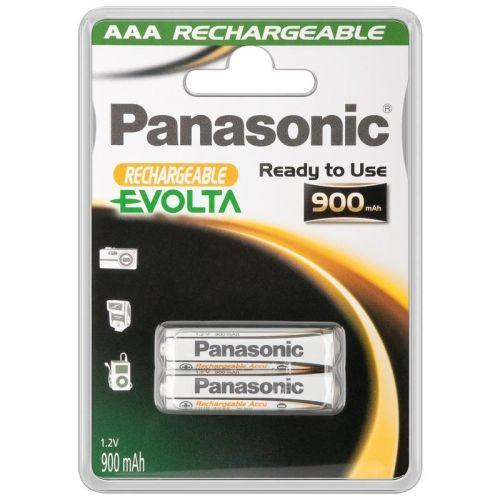 2 Stück AAA-Akkus, 900mAH Panasonic EVOLTA
