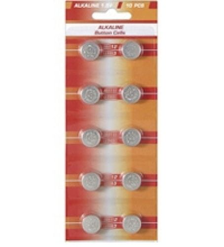 10 Knopfzellen AG12 Alkali-Mangan