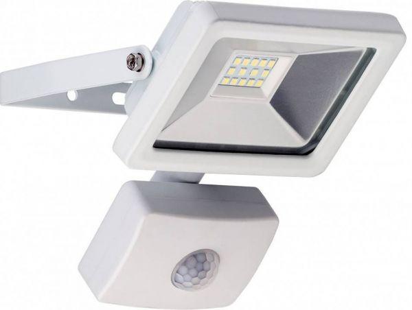 LED-Flutlichtstrahler, 10W, kaltweiß mit Bewegungsmelder, weiß
