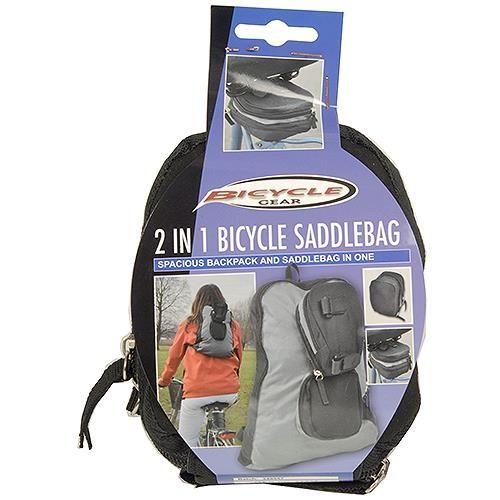 2 in 1 Fahrrad-Satteltasche & Rucksack