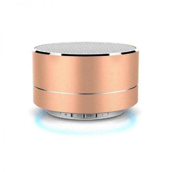 Bluetooth Lautsprecher, mobil mit MP3 Wiedergabe, gold