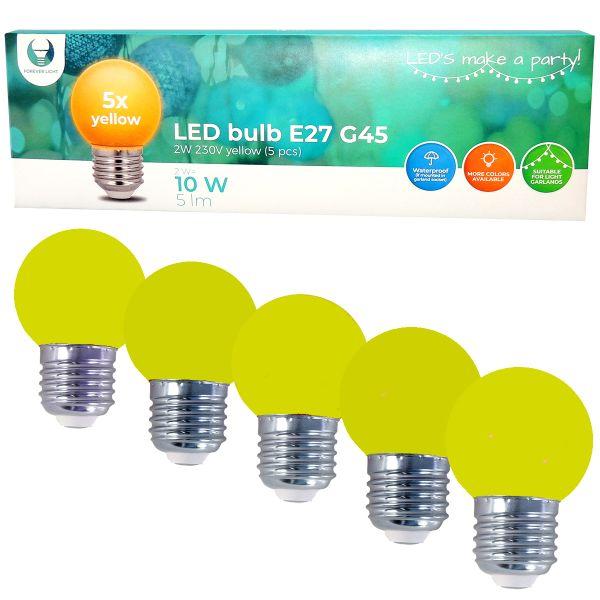 LED Birne für Lichterkette E27, 5er Set Licht gelb