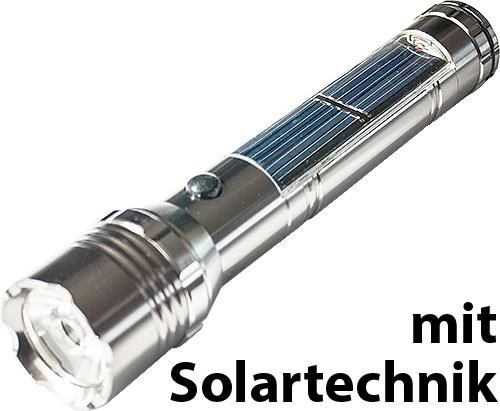 LED-Solar-Taschenlampe, 5 W / 180 Lumen COB-LED