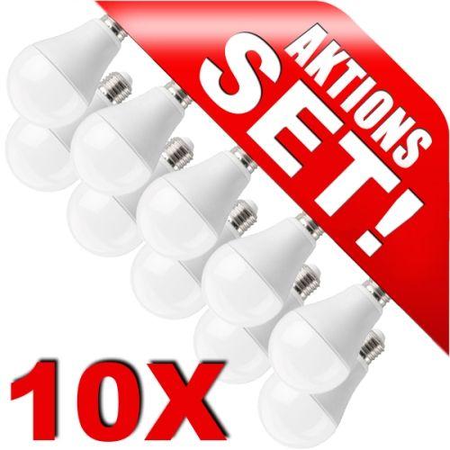 LED Birne E27, 12W, 1055lm warmweiß 10er Set