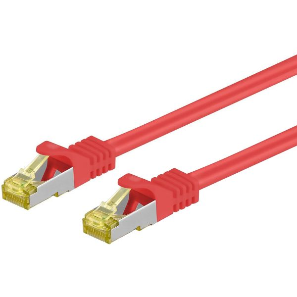 Patchkabel Cat.7 / RJ45 Cat.6a Stecker, 7.5m, rot