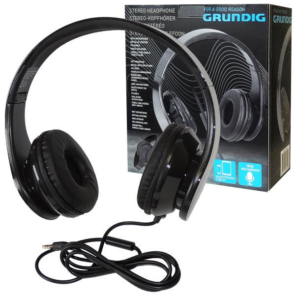 Stereo-Kopfhörer Headset Grundig, schwarz