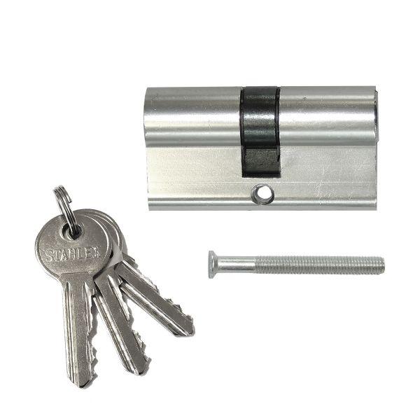 Sicherheitszylinder 60mm 30/30 mit 3 Schlüsseln
