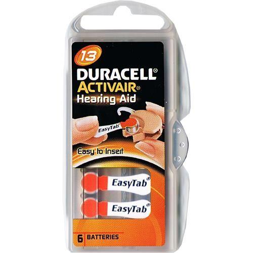Hörgerätebatterie Duracell EasyTab 6 Stück V 13