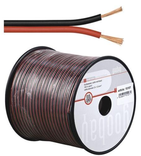 Lautsprecherkabel rot/schwarz, Q.2x1,50, 100m, CU