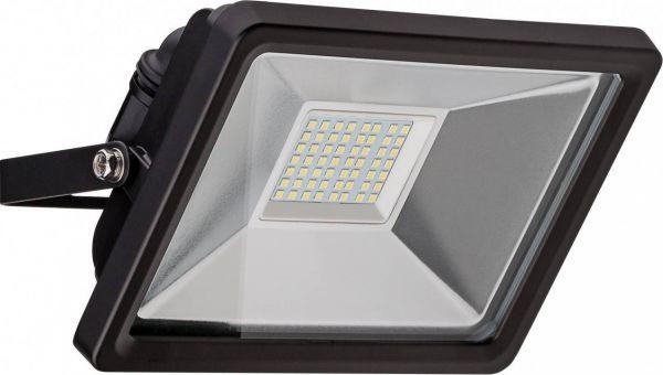 LED-Flutlichtstrahler, 30W, kaltweiß, 6500K, schwarz