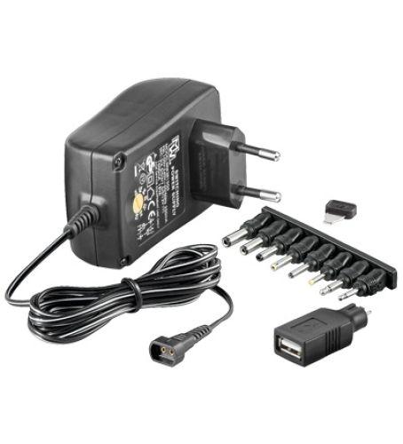 Universal-Netzteil 3-12V / 1,5A / 9 Adapter
