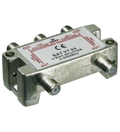 Sat-Verteiler 4-fach / 5-2450 MHz - digital-tauglich