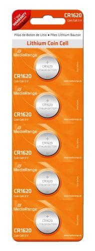 5 Knopfzellen CR-1620 Lithium