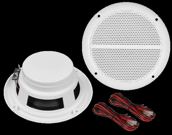 Außenlautsprecher / Ø 148mm / 80 Watt / weiß - 1 Paar