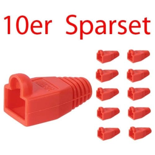 Tülle für RJ45 Stecker, rot, 10er Pack