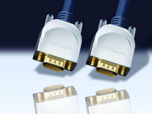 VGA-Kabel, 15m, Stecker - Stecker, Clicktronic
