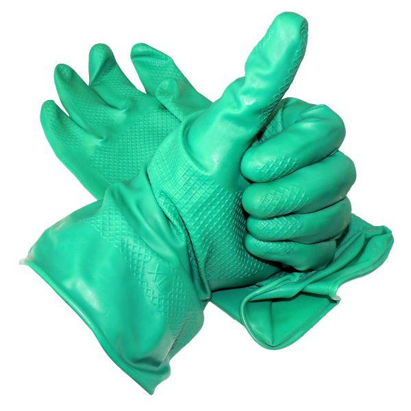 Nitril-Spezialhandschuhe Schutzhandschuhe, grün, Gr. S