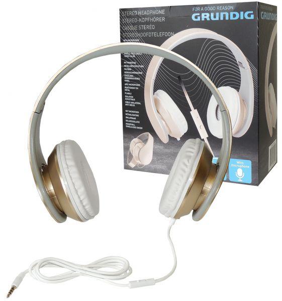 Stereo-Kopfhörer Headset Grundig, gold