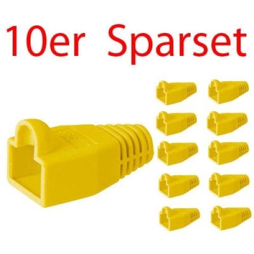 Tülle für RJ45 Stecker, gelb, 10er Pack