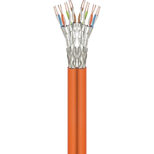 Cat7A Duplex-Netzwerkkabel 500m, S/FTP, PiMF, orange