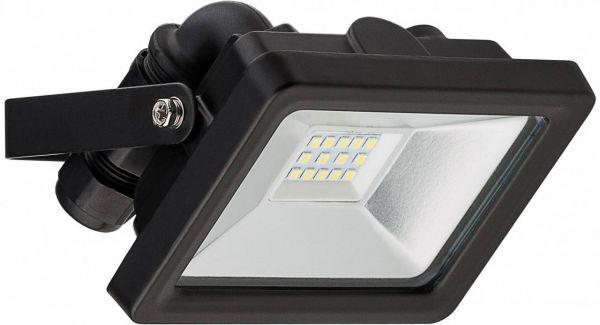 LED-Flutlichtstrahler, 10W / 830 Lumen, kaltweiß, 6500K, schwarz