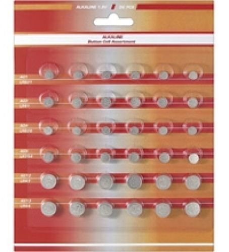 36 Knopfzellen-Set Alkali-Mangan