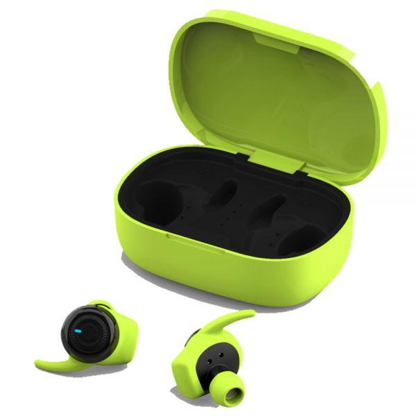 4 Sport InEar Headset mit Ladestation, hellgrün