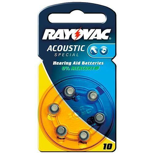 Hörgerätebatterie Rayovac / Varta 6 Stück V 10