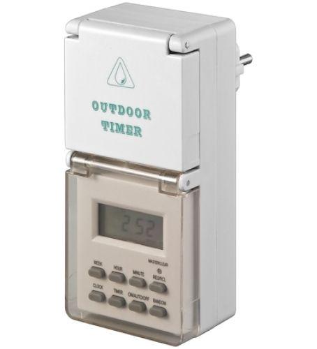 Zeitschaltuhr Digital, 7 Tage, Spritzwassergeschützt