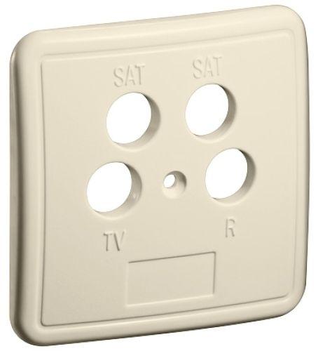 4-Loch Abdeckung für Antennendosen, E
