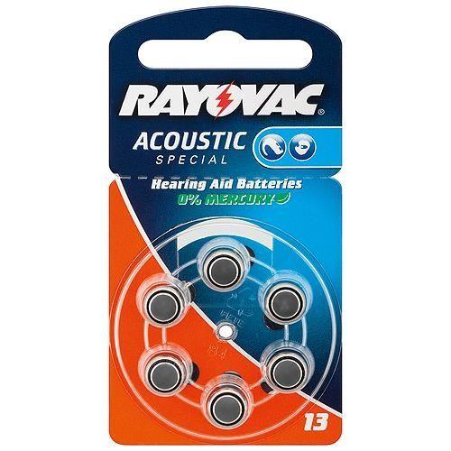 Hörgerätebatterie Rayovac / Varta 6 Stück V 13