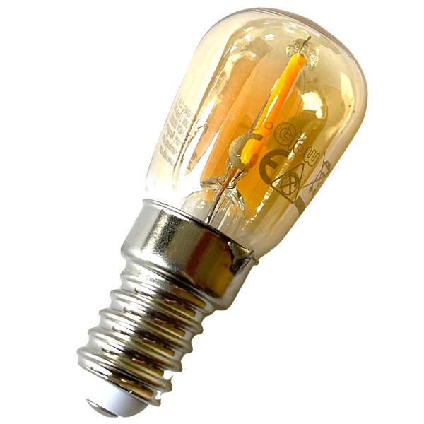 LED Birne E14, 1.5W warmweiß, Filament, gold