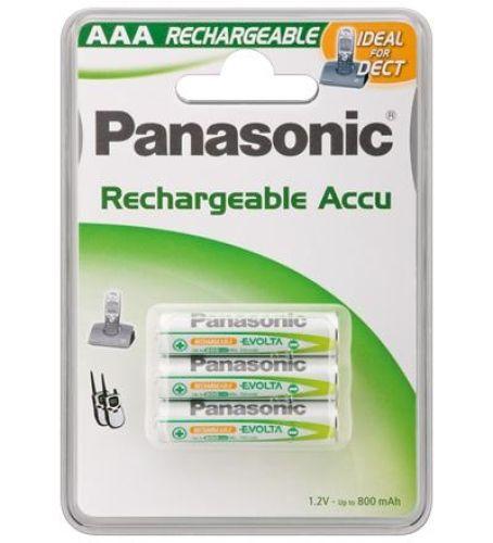 3 Stück AAA-Akkus, 800mAH Panasonic EVOLTA
