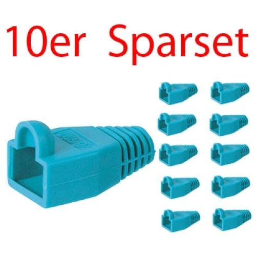 Tülle für RJ45 Stecker, blau, 10er Pack