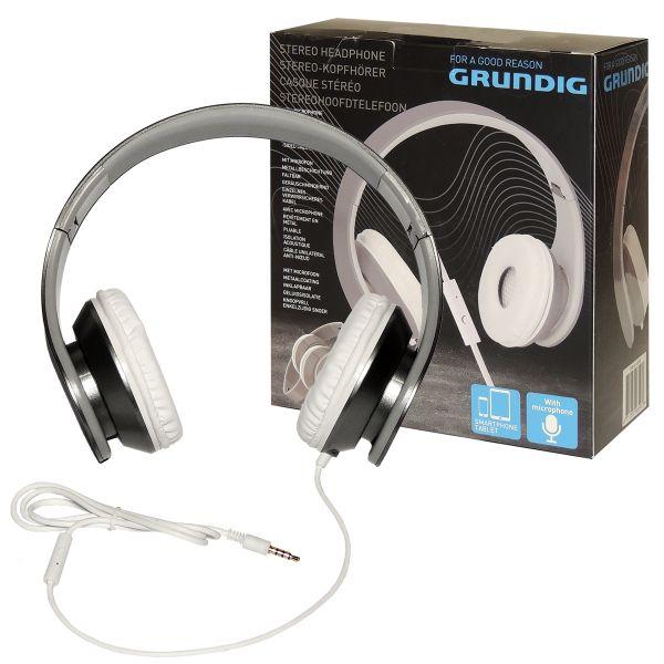 Stereo-Kopfhörer Headset Grundig, weiß